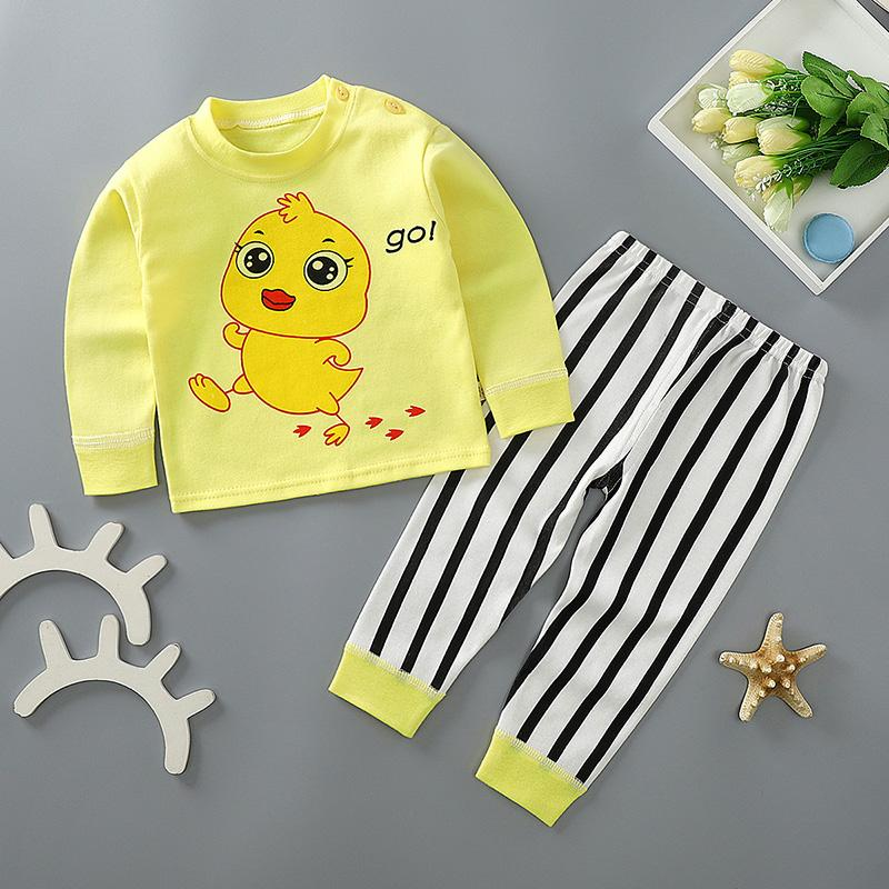 2-piece Cartoon Pattern Pajamas Sets for Toddler Boy