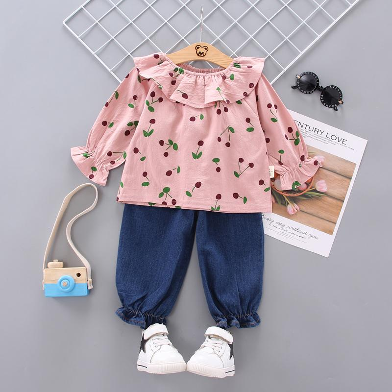 2-piece Ruffle Top & Pants for Toddler Girl