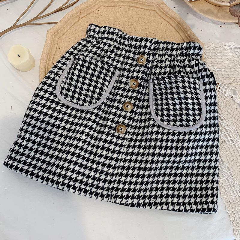 Houndstooth Skirts for Toddler Girl