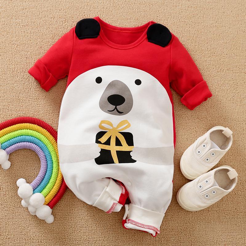 Bear Pattern Jumpsuit for Baby Boy
