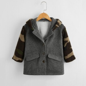 Camouflage Duffle Coat for Toddler Boy