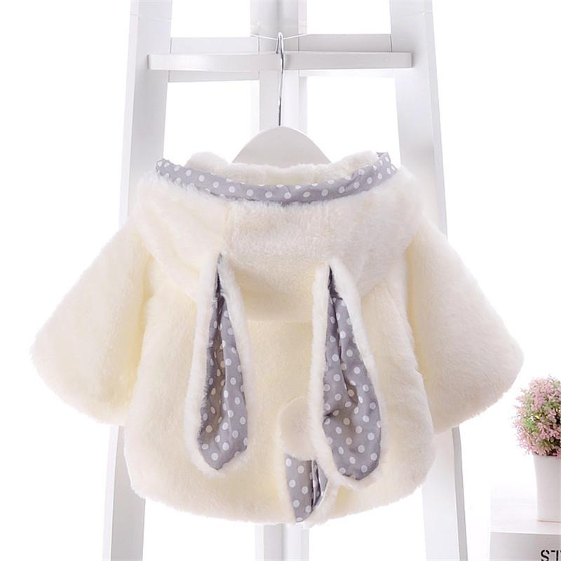 Rabbit Pattern Cloak for Baby Girl