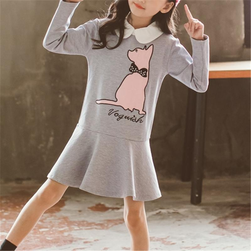 Cat Pattern Dress for Girl