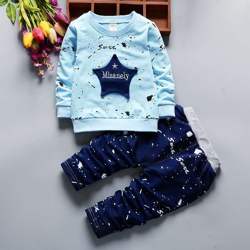 2-piece Pentagram Pattern Suit for Toddler Boy