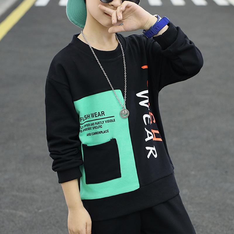 2-piece Color-block Sweatshirts & Pants for Boy