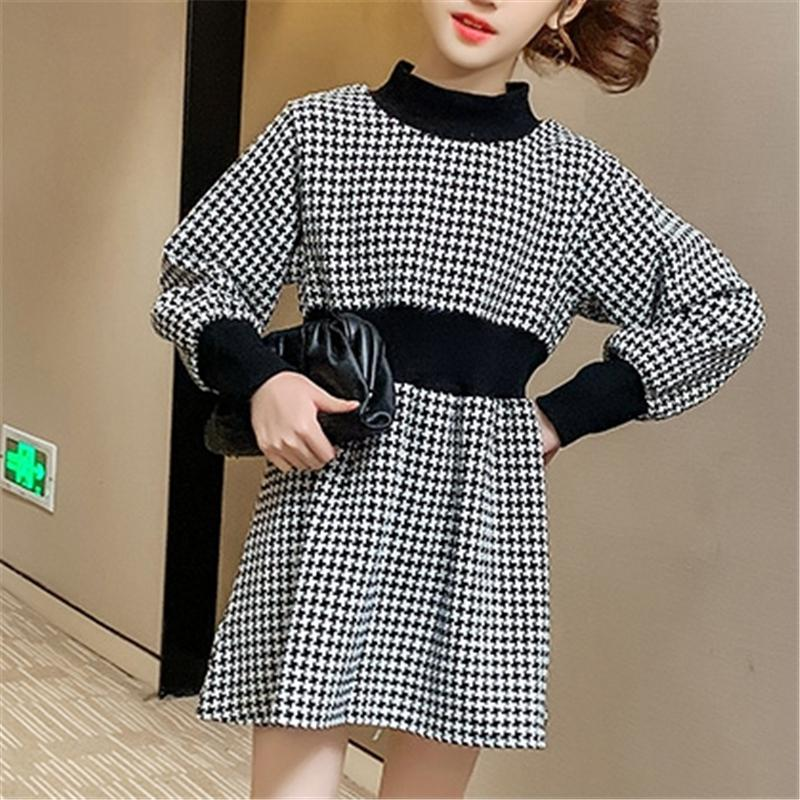 Houndstooth Dress for Girl