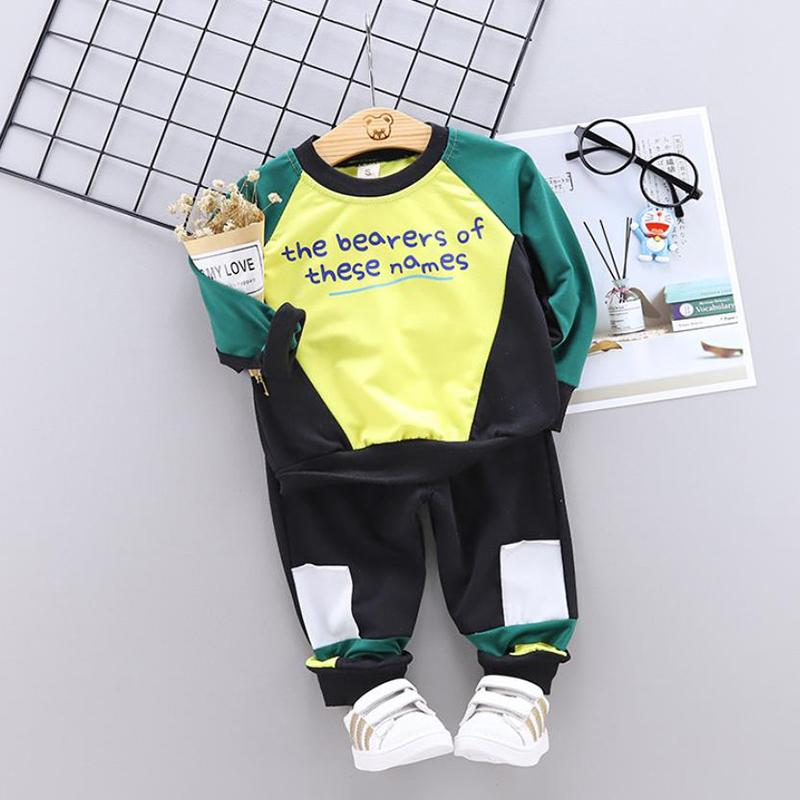 2-piece Color-block Suit for Toddler Boy