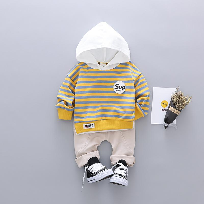 2-piece Striped Hoodie & Pants for Toddler Boy