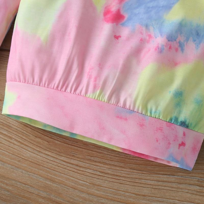 2-piece Tie Dye Pullover & Pants for Toddler Girl