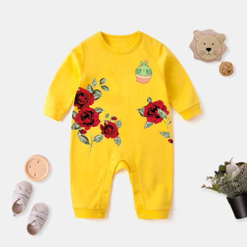 Rose Pattern Jumpsuit for Baby