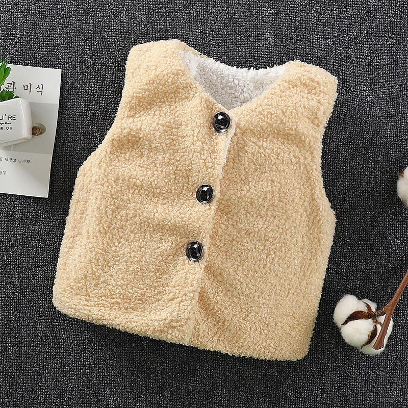 Plush Thick Gilet for Toddler Boy