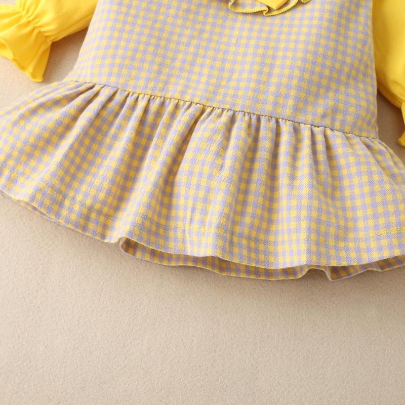 Ruffle Plaid Dress for Baby Girl