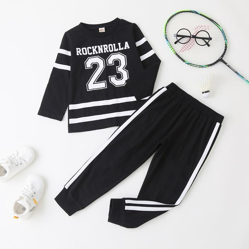 2-piece Sporty Pullover & Pants for Toddler Boy
