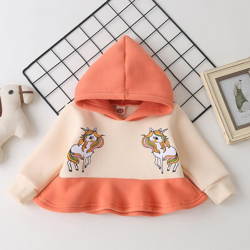 Unicorn Pattern Hoodie for Baby Girl