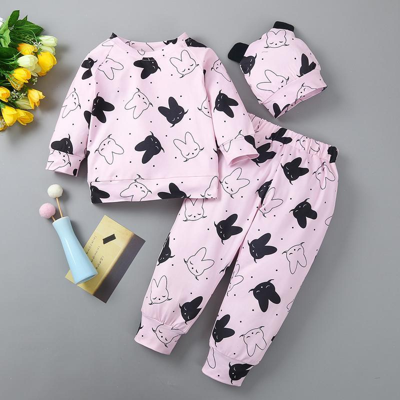 3-piece Hat & Sweatshirt & Pants for Baby Girl