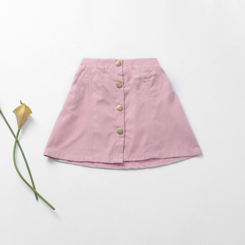 Buttons Skirts for Toddler Girl