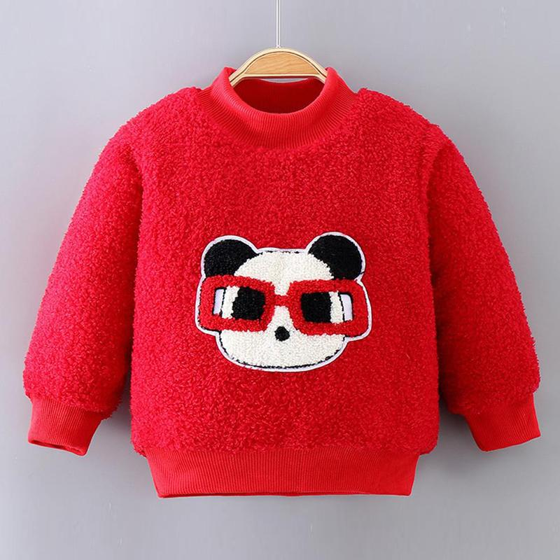 Animal Pattern Fleece Sweatshirts for Toddler Boy