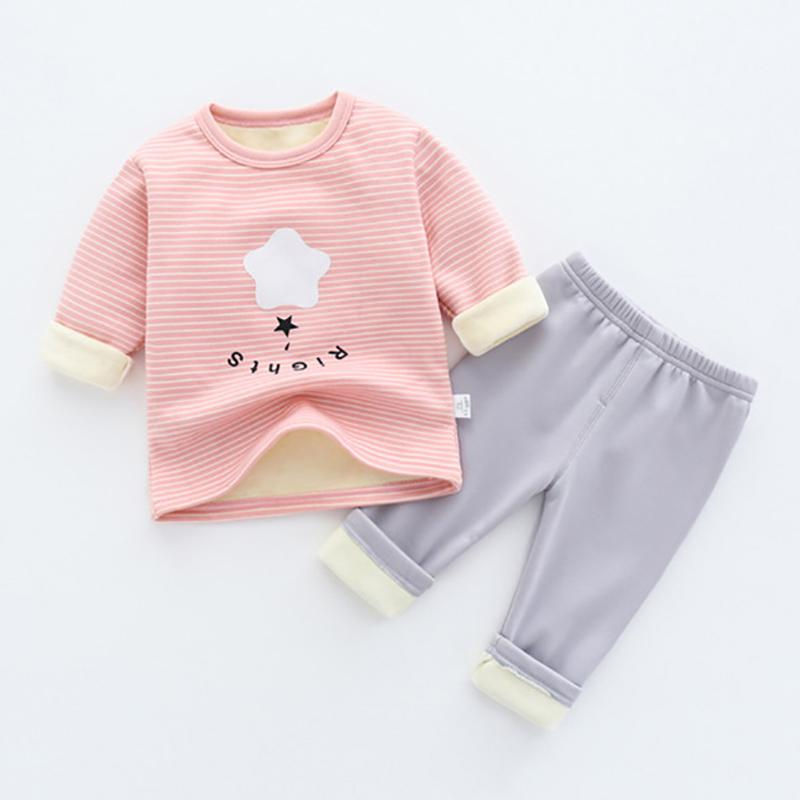 2-piece Fleece-lined Intimates Sets for Toddler Girl
