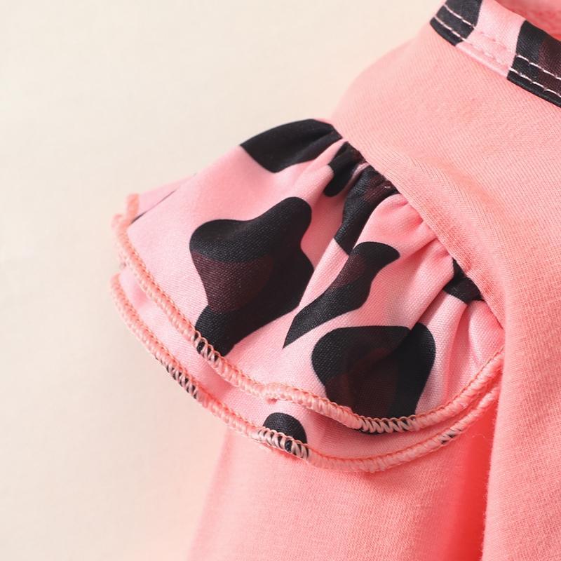 3-piece Leopard Romper & Headband & Pants for Baby Girl