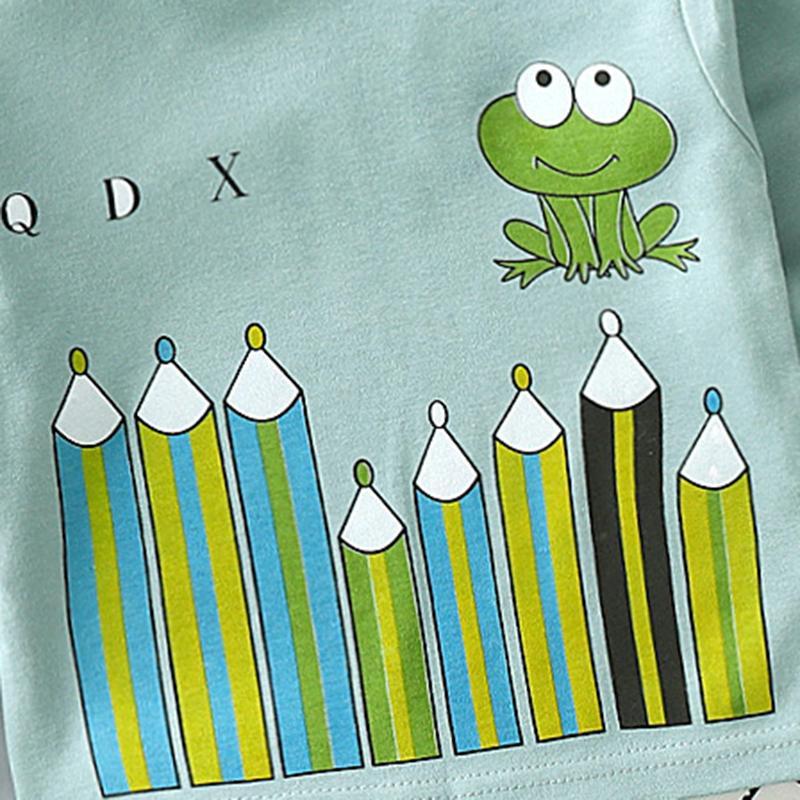 2-piece Cartoon Pattern Pajamas Sets for Toddler Boy