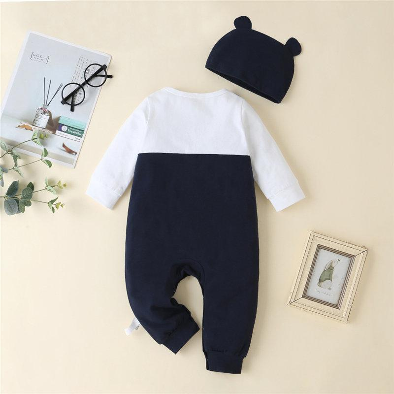 2-piece Panda Pattern Jumpsuit & Hat for Baby