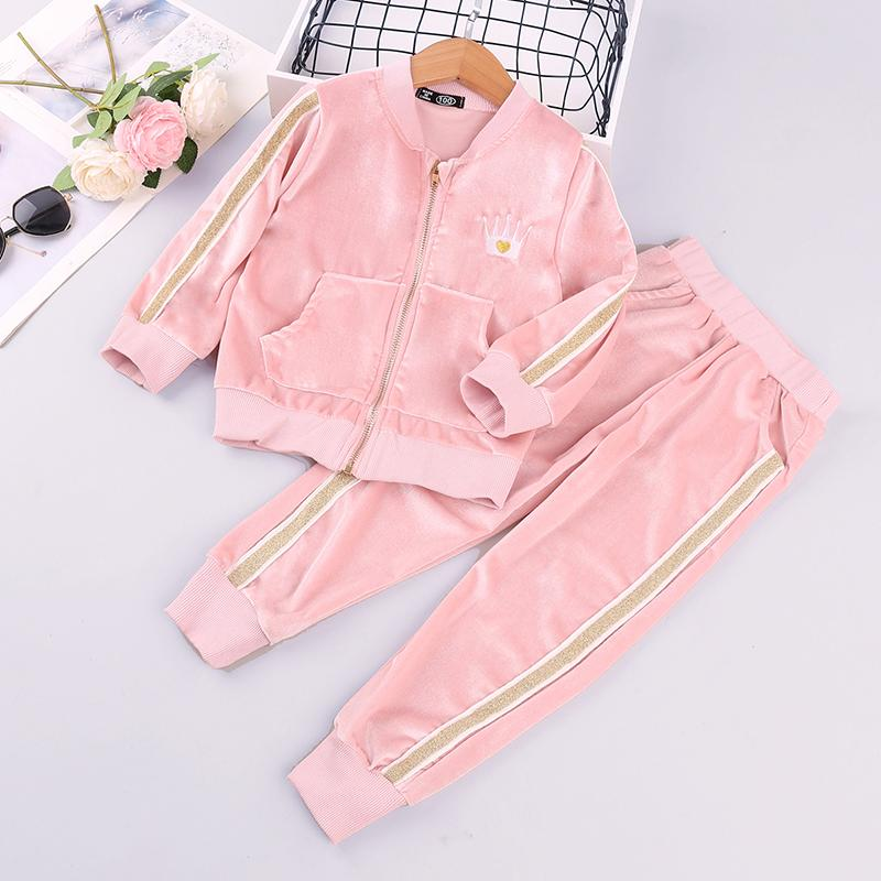 2-piece Flannel Coat & Pants for Toddler Girl