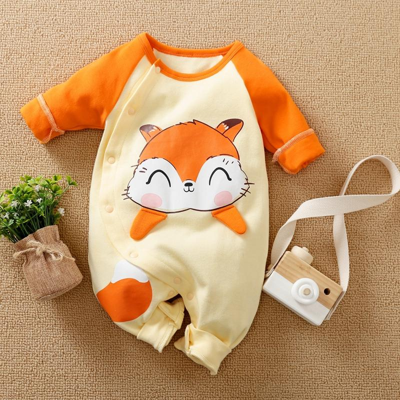 Fox Pattern Jumpsuit for Baby Girl