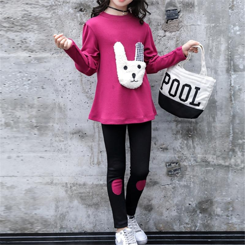 2-piece Long Sleeve T-shirt & Pants for Girl