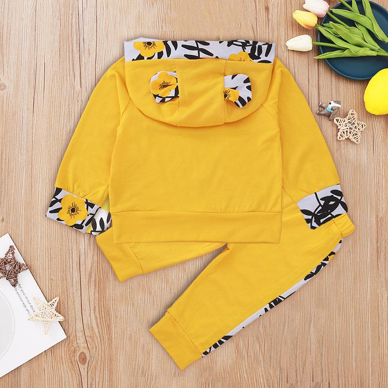 2-piece Letter Pattern Hoodie & Pants for Baby Boy