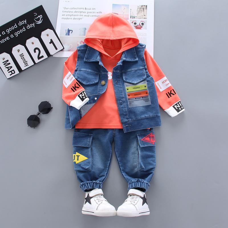 3-piece Vest & Hoodie & Pants for Toddler Boy