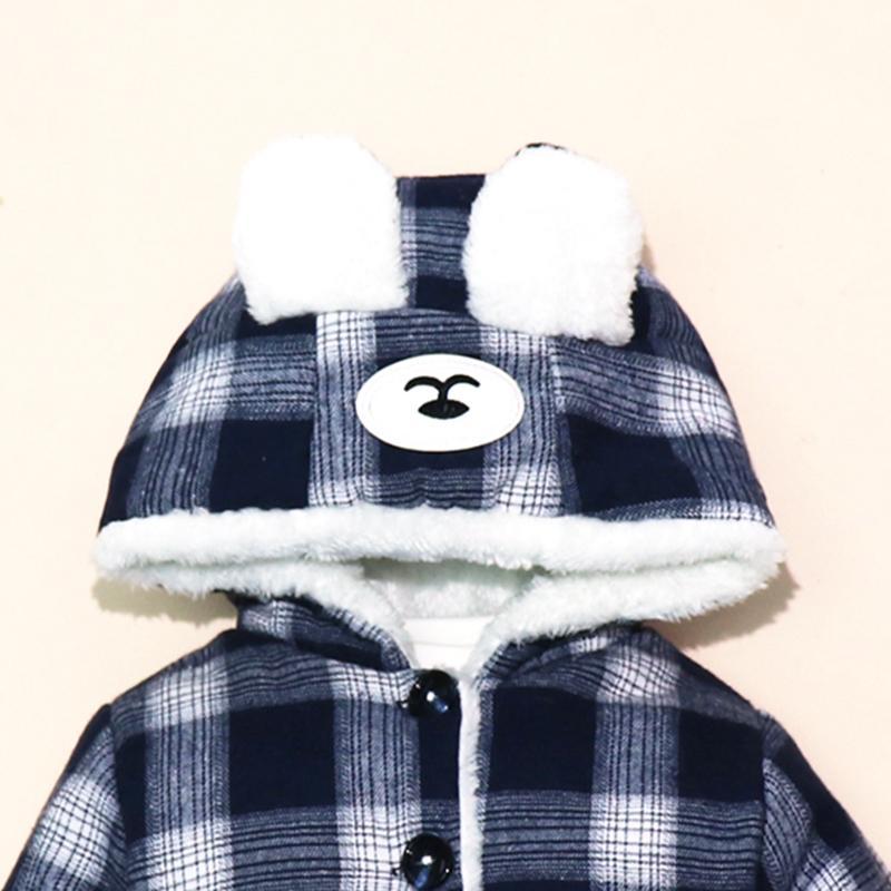Raccoon Pattern Puffer Jacket for Toddler Girl