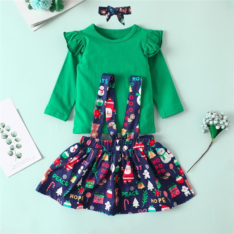 3-piece Christmas Dress Set for Toddler Girl
