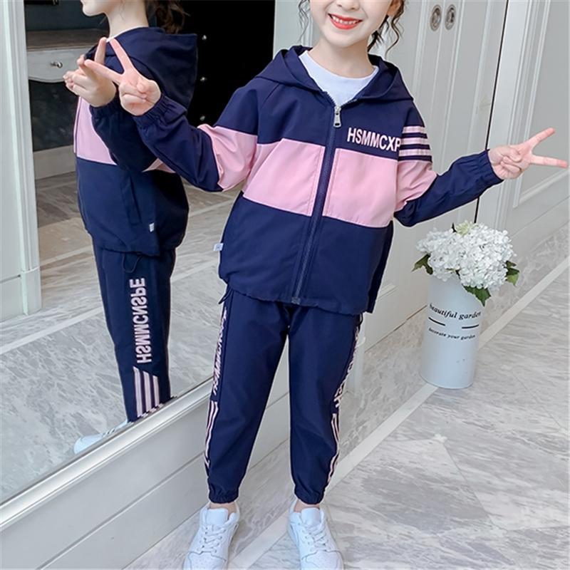 2-piece Color-block Coat & Pants for Girl