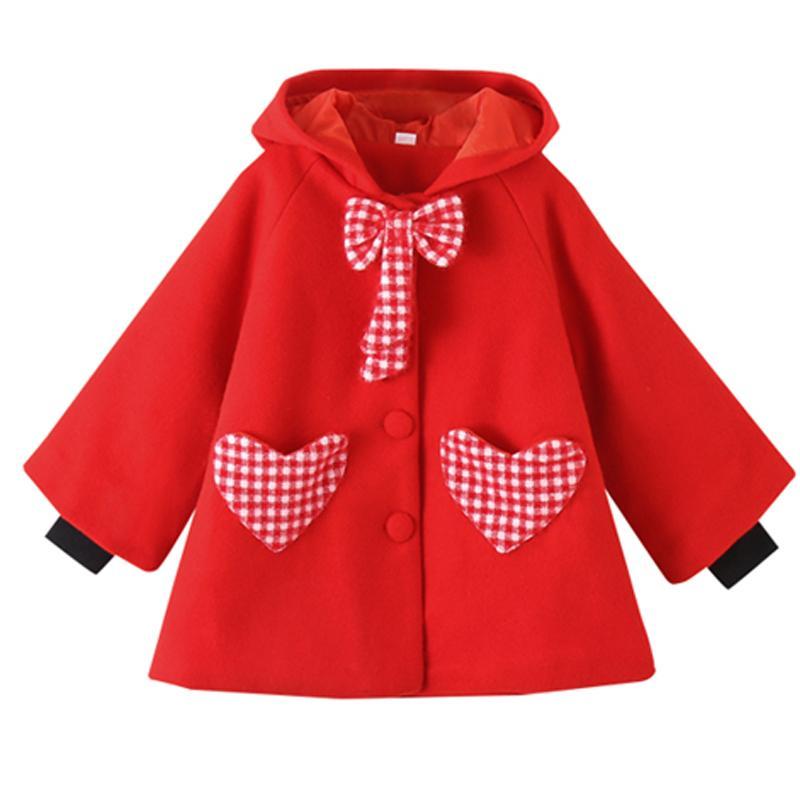 Bowknot Duffle Coat for Girl