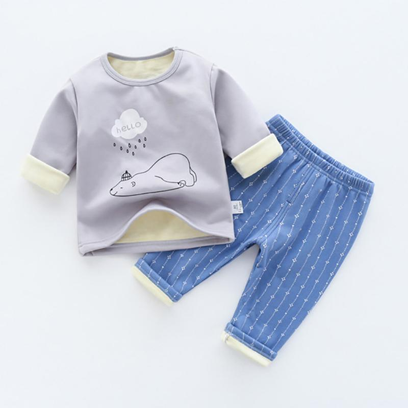2-piece Fleece-lined Intimates Sets for Toddler Boy