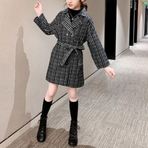 Plaid Duffle Coat for Girl