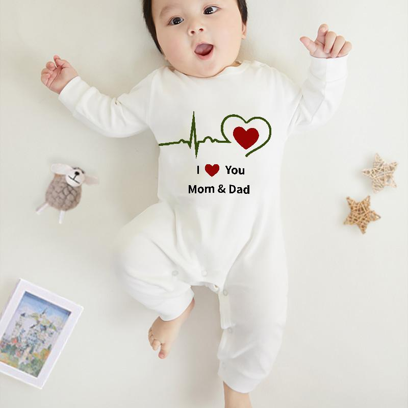 I Love Mom & Dad Jumpsuit for Baby