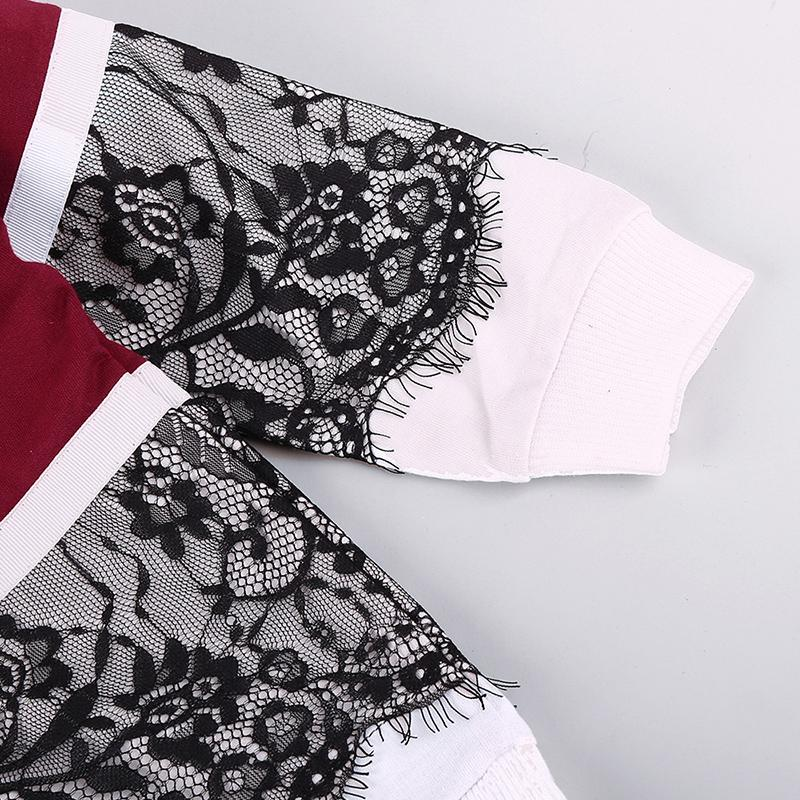 2-piece Lace Sweatshirts & Pants for Toddler Girl