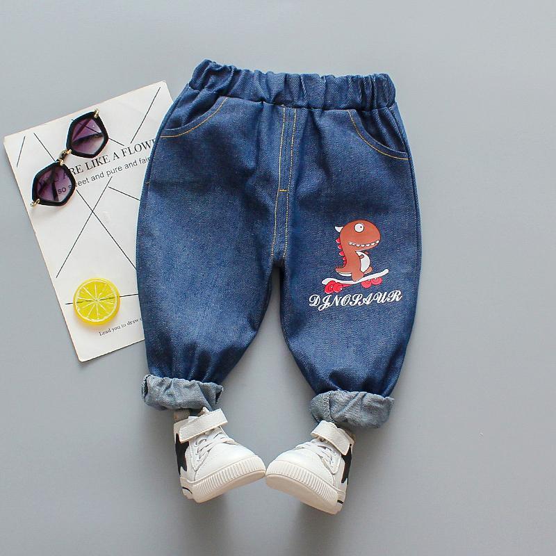 Dinosaur Pattern Jeans for Toddler Boy
