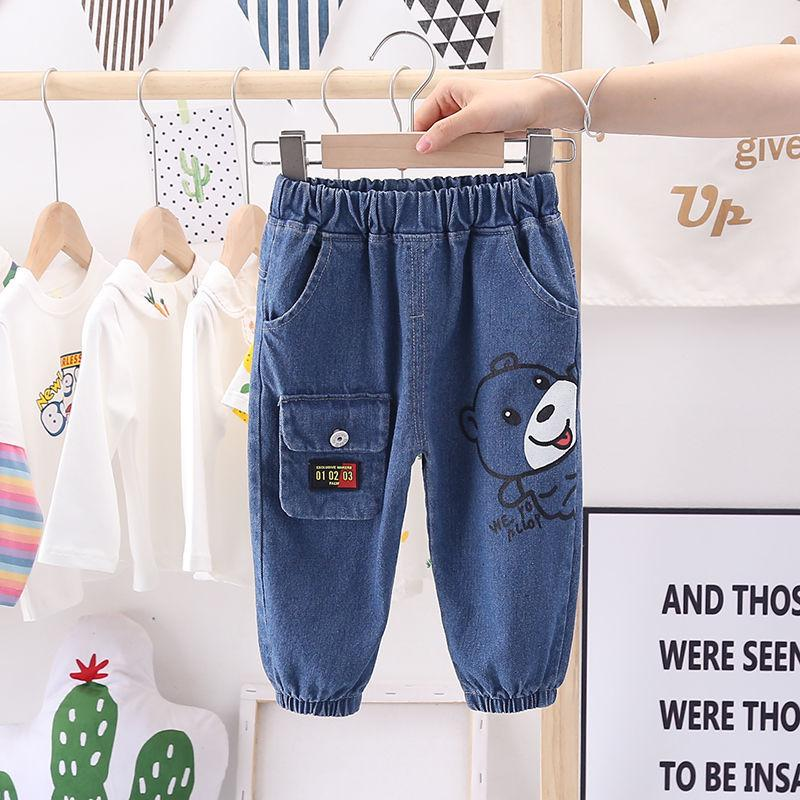 Bear Pattern Jeans for Toddler Boy