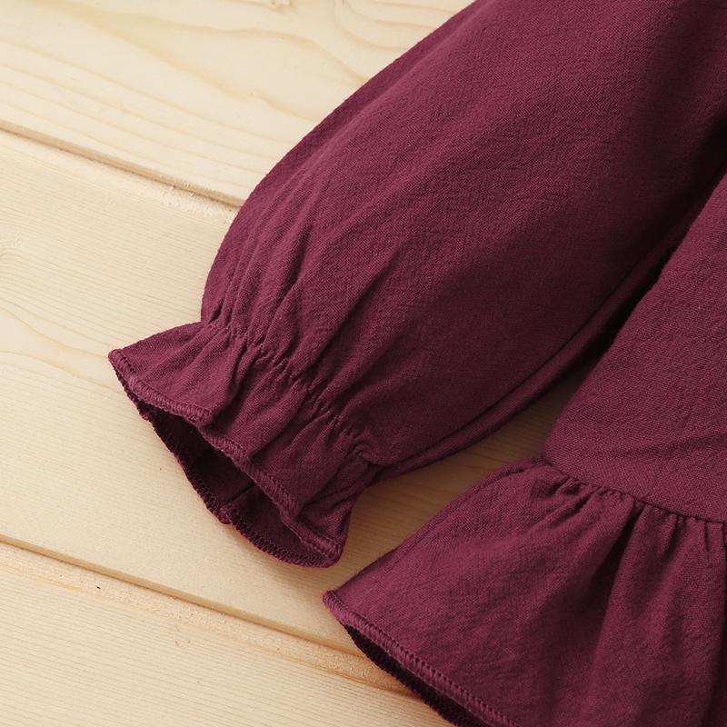 3-piece Ruffle Shirt & Pants & Headband for Baby Girl