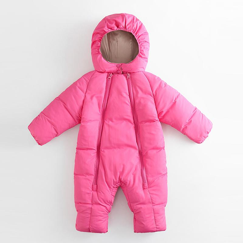 Solid Winter Thick Jumpsuit for Baby