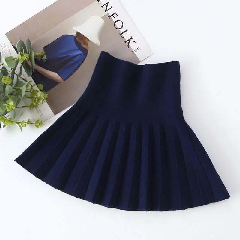 Knitted Pleated Skirt for Girl