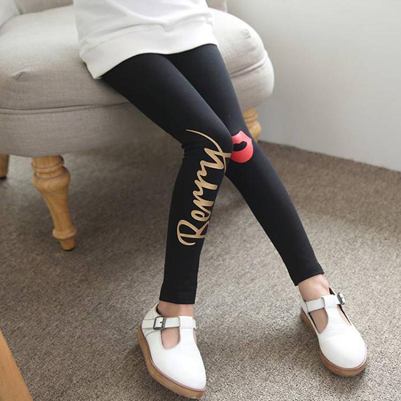 Letter Pattern Boot Pants for Girl