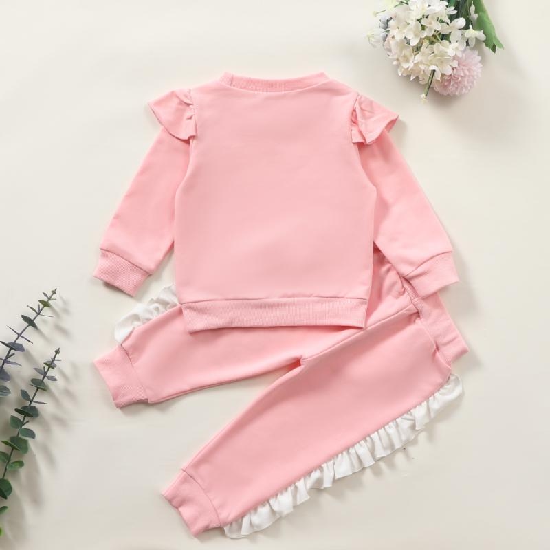 2-piece Ruffle Sweatshirts & Pants for Baby Girl