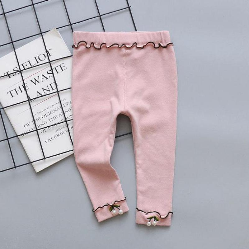Floral Pattern Boot Pants for Toddler Girl