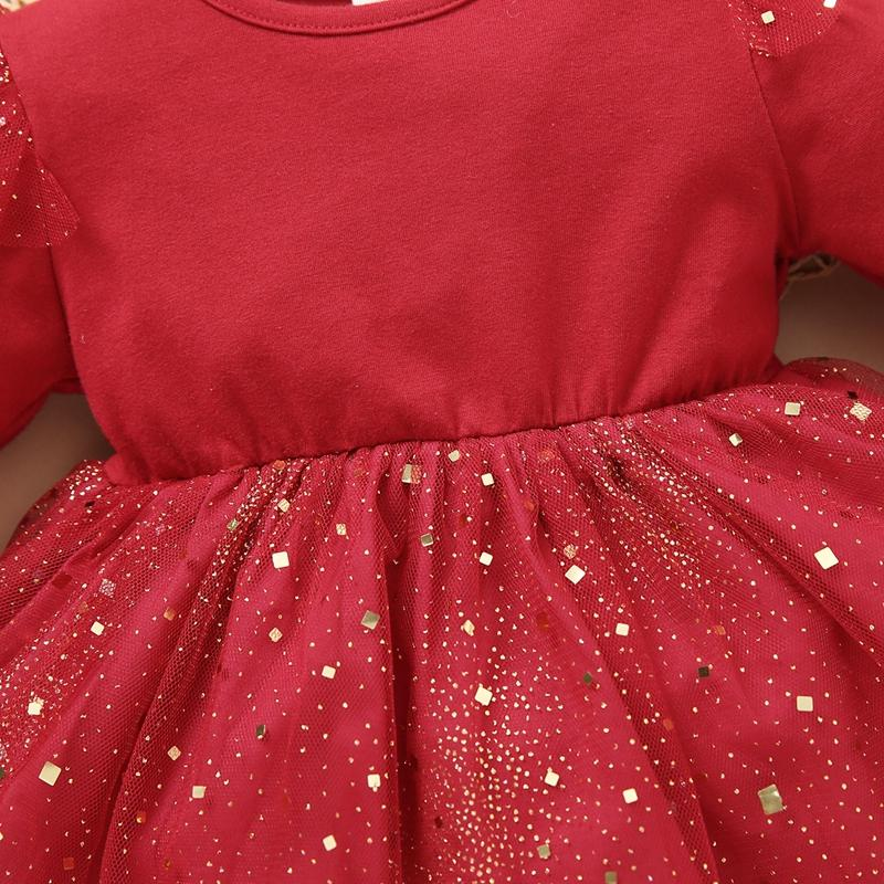 Long Sleeve Mesh Princess Dress for Toddler Girl