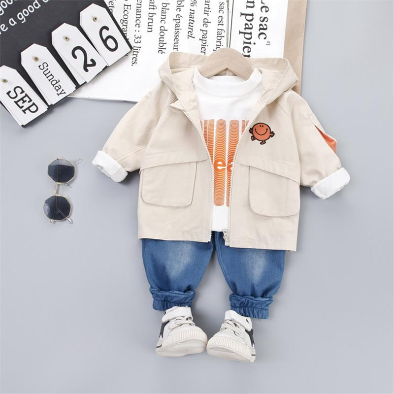 3-piece Coat & Sweatshirt & Pants for Toddler Boy