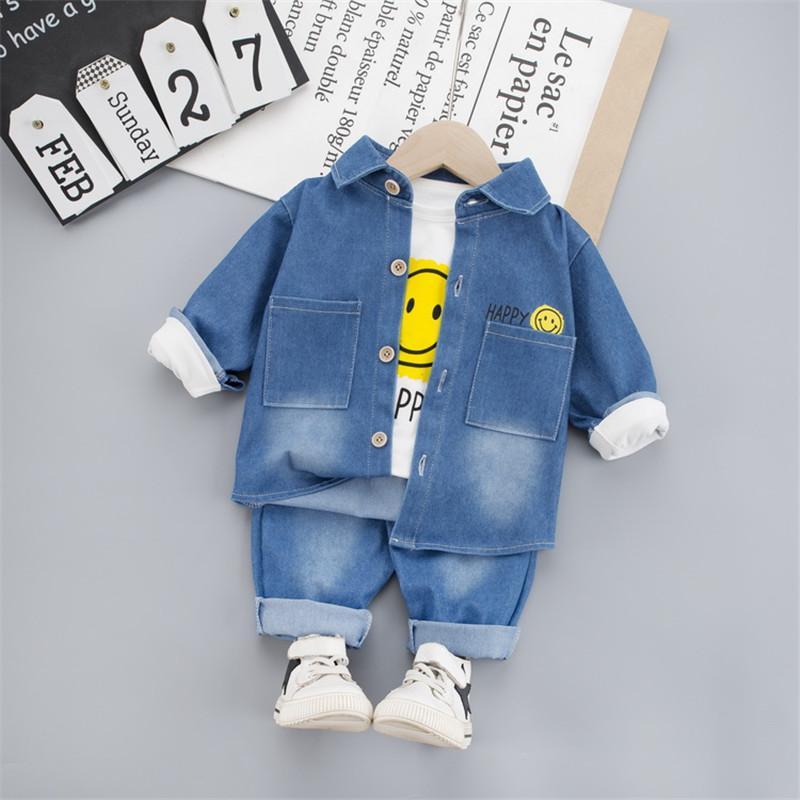 3-piece Coat & Sweatshirt & Pants for Toddler Boy