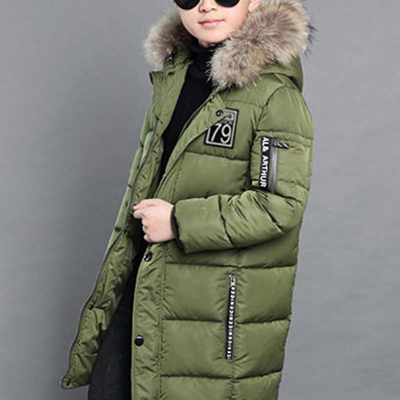 Letter Pattern Puffer Jacket for Boy
